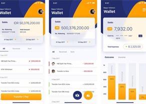APP界面金融应用手机UI电子银行