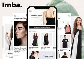 时尚商店电子商务IOS,ADOBE XD&SKETCH。,IMBA电子商务UI套件
