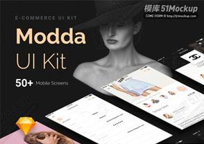 MODDA电子商务用户界面工具包 MODDA E-COMMERCE UI KIT