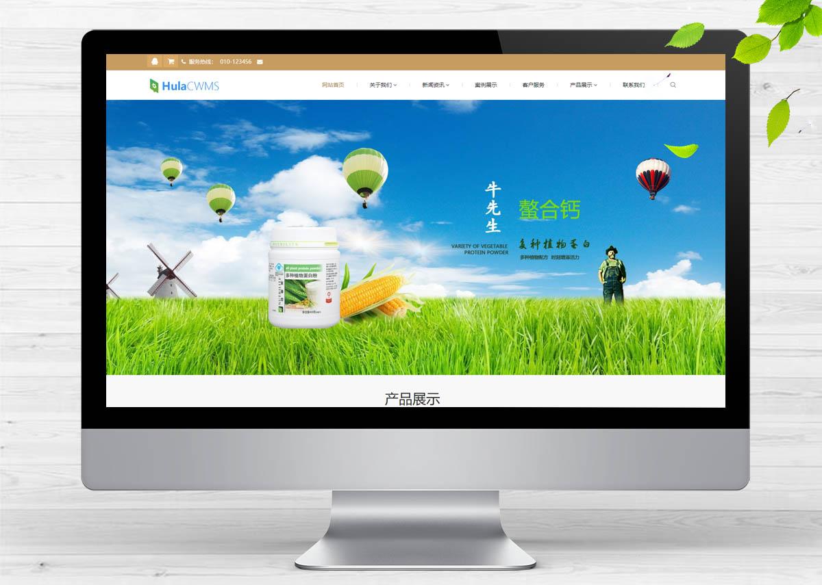 响应式养生健康医疗类呼啦网站模板H-179