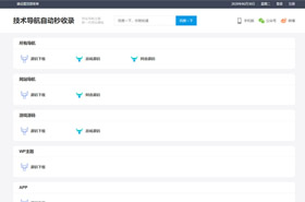 WordPress全新爱导航网址网站展现主题风格网站模板响应式移动端