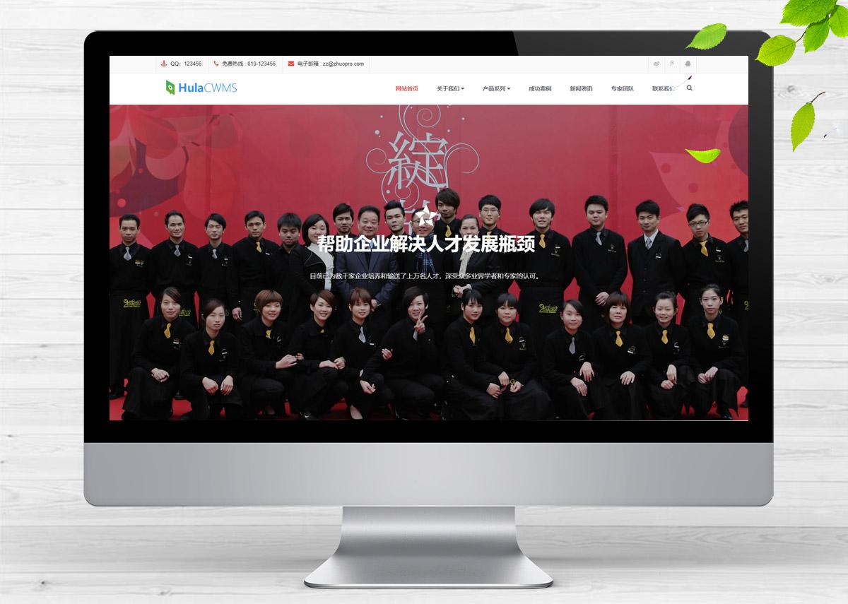响应式管理财富培训咨询类呼啦网站模板H-220